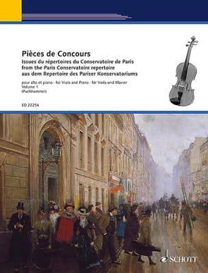 - Pièces de concours Vol. 1 - Alto et piano - Partition - di-arezzo.fr