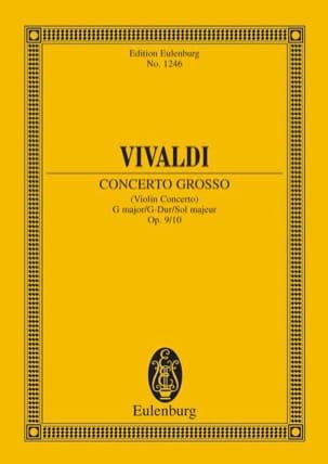 VIVALDI - Violin-Konzert G-Dur, Op. 9/10 - Partition - di-arezzo.fr