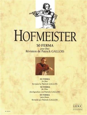 M. F. Hofmeister - 50 Ferma - Flûte - Partition - di-arezzo.fr