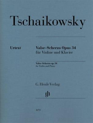 TCHAIKOVSKY - Valse-Scherzo、op。 34 - ヴァイオリンとピアノ - 楽譜 - di-arezzo.jp