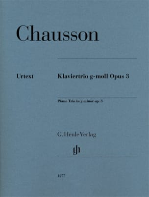 Ernest Chausson - Trio in G minor, Op. 3 - Violin, cello and piano - Sheet Music - di-arezzo.co.uk