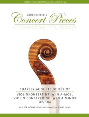 BÉRIOT - Concerto No. 9, Op. 104 - Violin and Piano - Sheet Music - di-arezzo.co.uk