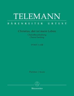 TELEMANN - Christus, der ist mein Leben - Conducteur - Partition - di-arezzo.fr