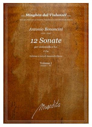 12 Sonatas, Vol. 1 Antonio Maria Bononcini Partition laflutedepan