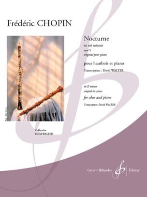 CHOPIN - Nocturne en mi min., op. 72 - Hautbois et piano - Partition - di-arezzo.fr