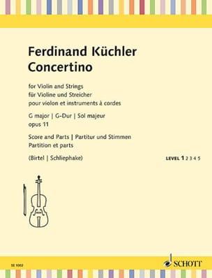 Ferdinand Küchler - Concertino en Sol Maj., op. 11 - Parties + Conducteur - Partition - di-arezzo.fr