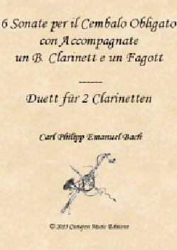 6 Sonates, Wq 92 - Clarinette, Basson et Clavier laflutedepan