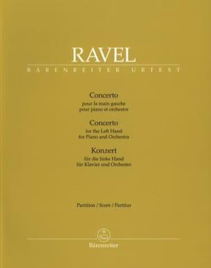 Maurice Ravel - Concerto pour la main gauche - Conducteur Grand Format - Partition - di-arezzo.fr