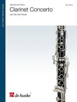 der Roost Jan Van - Clarinet Concerto - Partition - di-arezzo.fr