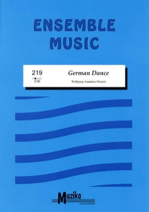 German Dance MOZART Partition ENSEMBLES - laflutedepan