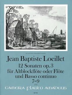 de Gant Jean Baptiste Loeillet - 12 Sonaten Op. 3 (n° 7-9) - Partition - di-arezzo.fr