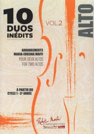 10 Duos Inédits vol. 2 - 2 Altos Partition Alto - laflutedepan