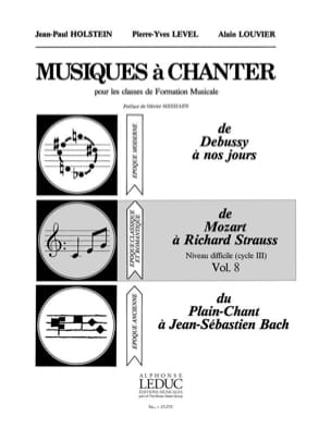 Holstein Jean-Paul / Level Pierre-Yves / Louvier Alain - Musics to sing - Volume 8 - Sheet Music - di-arezzo.com