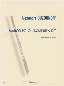 Alexandre Ouzounoff - Marco Polo had said it well - Sheet Music - di-arezzo.co.uk