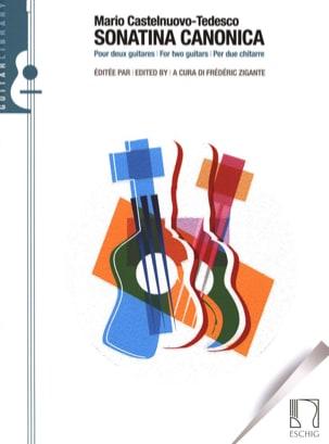 Mario Castelnuovo-Tedesco - Sonatina canonica, Opus 196 per due chitarre - Partition - di-arezzo.fr
