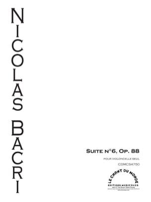 Nicolas Bacri - Suite N ° 6 Opus 88 - Sheet Music - di-arezzo.co.uk