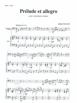 Jérôme Naulais - Prelude and Allegro - Sheet Music - di-arezzo.co.uk
