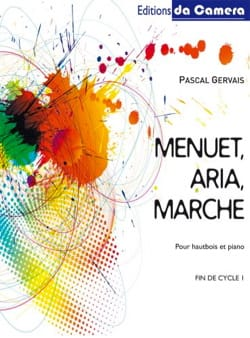 Menuet - Aria - Marche Pascal Gervais Partition laflutedepan