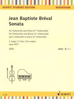 Jean-Baptiste Bréval - Sonata C major, opus 40/1 - Partition - di-arezzo.fr