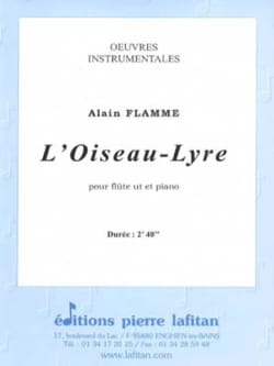 Alain FLAMME - Bird-Lyre - Flute and piano - Sheet Music - di-arezzo.com