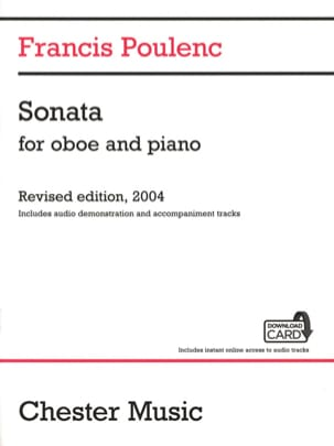 Francis Poulenc - Sonate + Download Card - Hautbois et piano - Partition - di-arezzo.fr