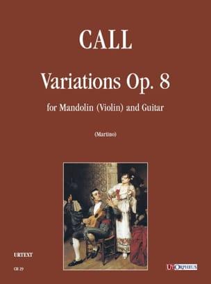 Leonhard von Call - Variations, op. 8 - Mandoline et Guitare - Partition - di-arezzo.fr