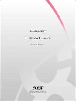 Pascal Proust - In modo classico - Partition - di-arezzo.fr
