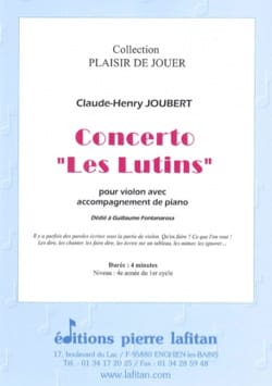 Claude-Henry Joubert - Concerto The elves - Sheet Music - di-arezzo.co.uk