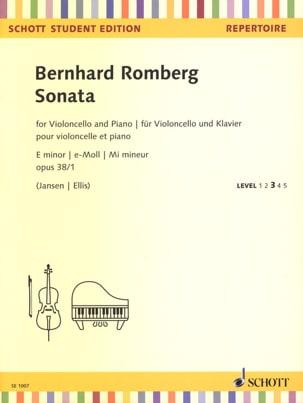 Bernhard Heinrich Romberg - Sonata E minor, opus 38/1 - Partition - di-arezzo.fr