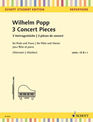 Wilhelm Popp - 3 Concert Pieces 3 Concert Pieces / 3 Vortragsstücke - Sheet Music - di-arezzo.co.uk