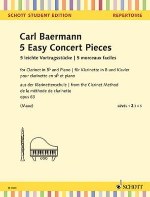 5 Morceaux Faciles, opus 63 de la méthode de clarinette opus 63 laflutedepan