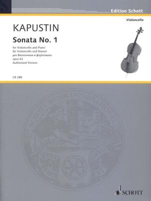 Sonate N° 1, opus 63 Nikolai Kapustin Partition laflutedepan