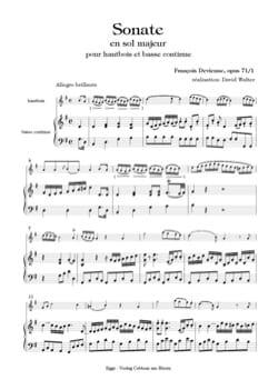 4ème Sonate, op. 71/1 - Hautbois et Basse DEVIENNE laflutedepan