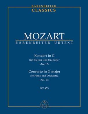 MOZART - Klavierkonzert Nr. 17 G-Dur KV 453 – Partitur - Partition - di-arezzo.fr