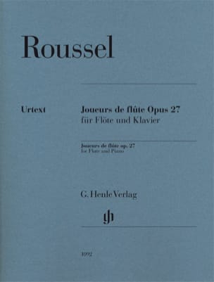 Albert Roussel - Flute players opus 27 for flute and piano - Urtext - Sheet Music - di-arezzo.com