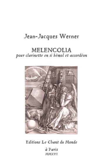 Jean-Jacques Werner - Melencolia - Clarinette et accordéon - Partition - di-arezzo.fr