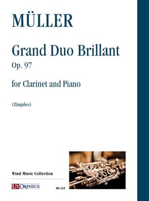 Iwan Müller - Grand Duo Brilliant Opus 97 for Clarinet and Piano - Sheet Music - di-arezzo.com