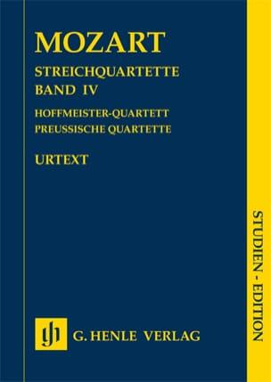 MOZART - Quatuors à cordes, volume IV - Urtext - Partition - di-arezzo.fr