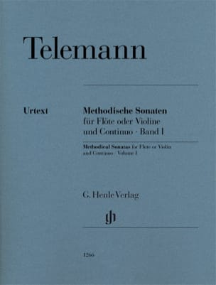 TELEMANN - Methodical sonatas for flute or violin and continuo, volume I - Sheet Music - di-arezzo.co.uk