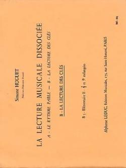Lecture musicale dissociée - B3 - Elém. 2 Simone Huguet laflutedepan