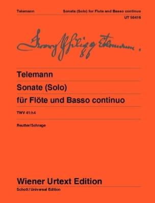 Georg Philipp Telemann - Sonate pour Flûte et Basse Continue TWV 41 : h4 - Partition - di-arezzo.fr
