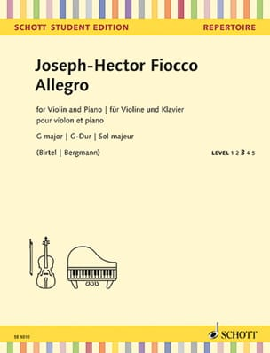 Joseph Hector Fiocco - Allegro in G Major - Sheet Music - di-arezzo.co.uk