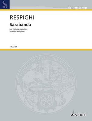 Ottorino Respighi - Sarabanda - Partition - di-arezzo.fr