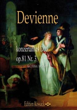 Duos Concertants Opus 81 N°3 pour 2 Flûtes - laflutedepan.com