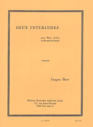 Jacques Ibert - 2 Interludes - Sheet Music - di-arezzo.co.uk