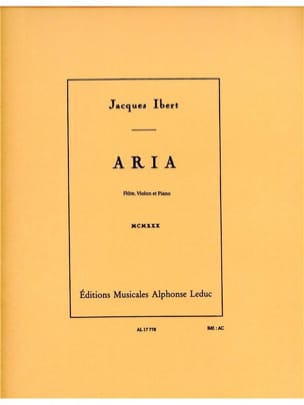 Jacques Ibert - Aria - Flute, violin and piano - Sheet Music - di-arezzo.com