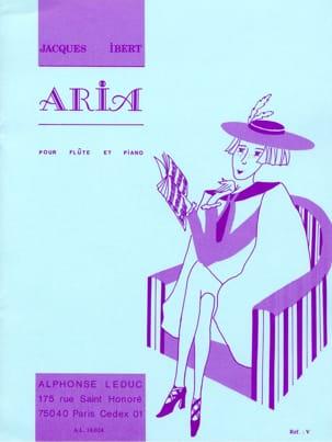 Jacques Ibert - Aria –Flûte et piano - Partition - di-arezzo.fr