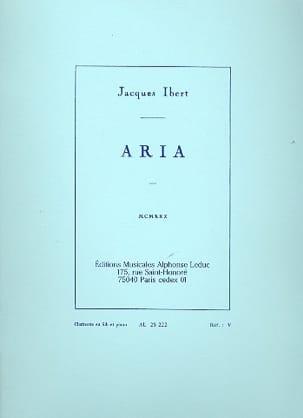 Jacques Ibert - Aria - clarinette en sib - Partition - di-arezzo.fr