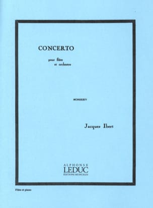 Jacques Ibert - Flute Concerto - Sheet Music - di-arezzo.co.uk