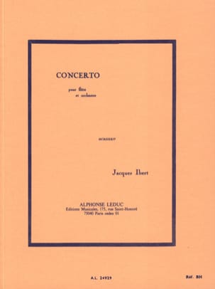 Jacques Ibert - Flute Concerto - Conductor - Sheet Music - di-arezzo.co.uk